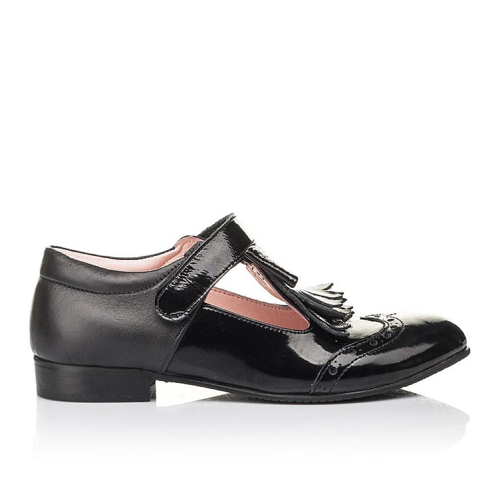Детские туфли Woopy Fashion черные для девочек натуральная лаковая кожа размер 33-39 (4299) Фото 4