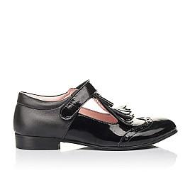 Детские туфли Woopy Fashion черные для девочек натуральная лаковая кожа размер 34-39 (4299) Фото 4