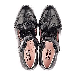 Детские туфли Woopy Fashion черные для девочек натуральная лаковая кожа размер 34-39 (4299) Фото 5