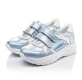 Детские кроссовки Woopy Fashion голубые для девочек натуральная кожа размер 26-31 (4300) Фото 3