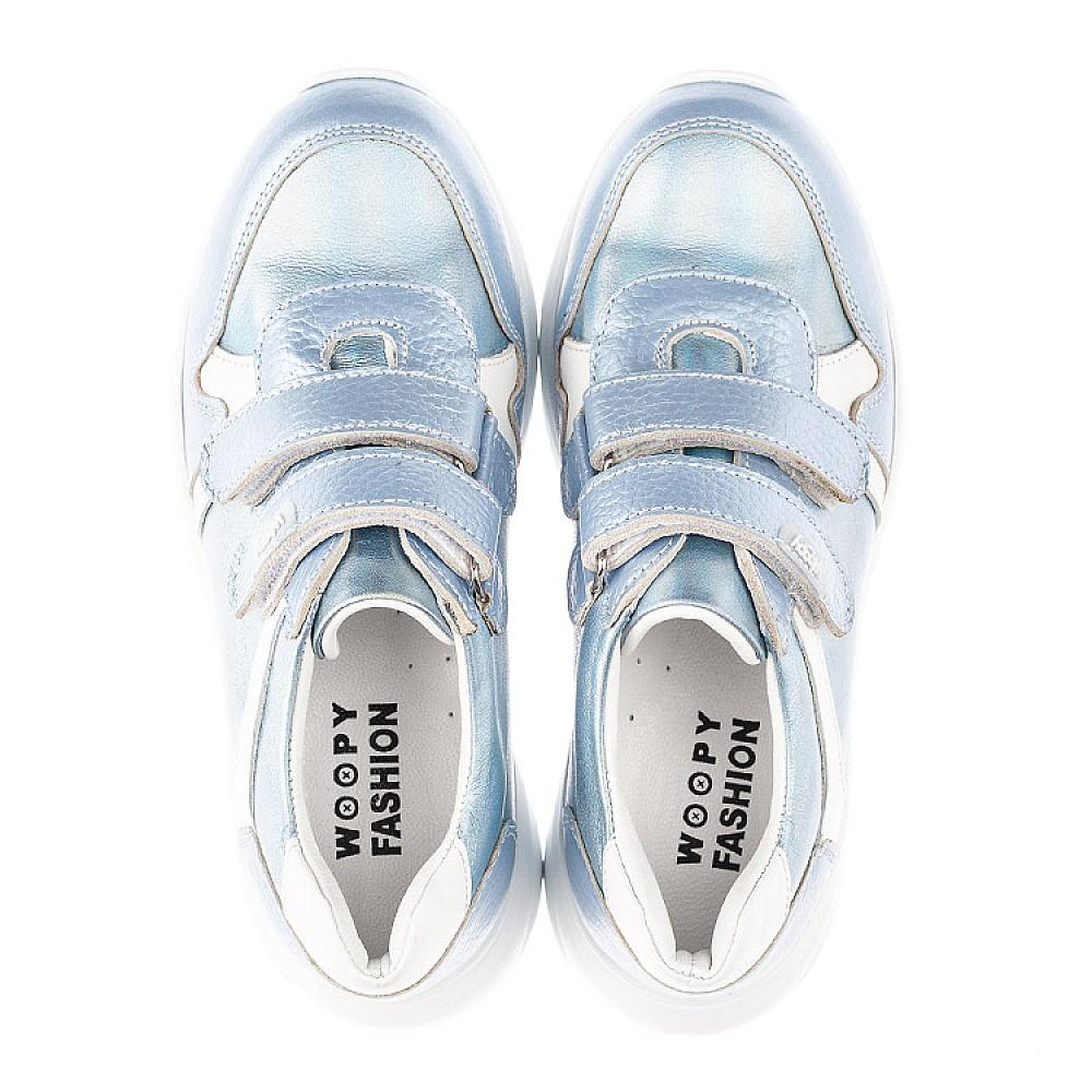Детские кроссовки Woopy Fashion голубые для девочек натуральная кожа размер 26-36 (4300) Фото 5