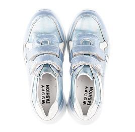 Детские кроссовки Woopy Fashion голубые для девочек натуральная кожа размер 26-31 (4300) Фото 5