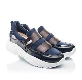 Детские кроссовки Woopy Fashion синие для девочек натуральная кожа, искусственный материал  размер 33-40 (4301) Фото 1