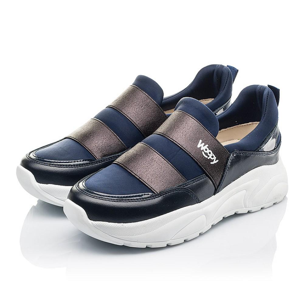Детские кроссовки Woopy Fashion синие для девочек натуральная кожа, искусственный материал размер 33-40 (4301) Фото 3