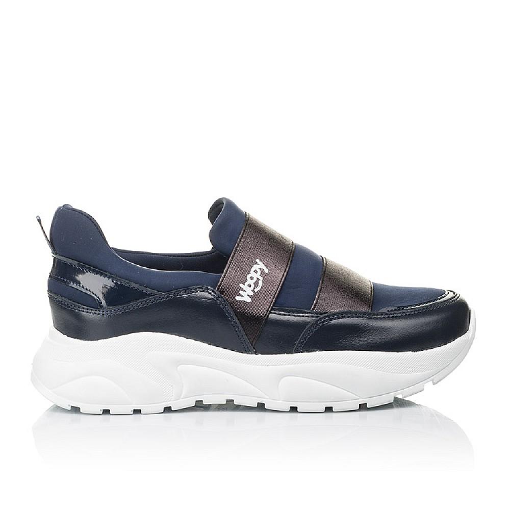 Детские кроссовки Woopy Fashion синие для девочек натуральная кожа, искусственный материал размер 33-40 (4301) Фото 4