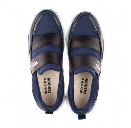 Детские кроссовки Woopy Fashion синие для девочек натуральная кожа, искусственный материал  размер 33-40 (4301) Фото 5