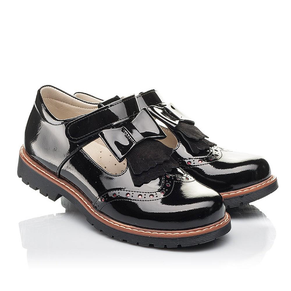 Детские туфли Woopy Fashion черные для девочек натуральная лаковая кожа размер 31-36 (4302) Фото 1