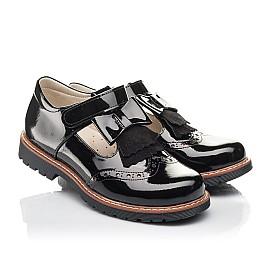 Детские туфли Woopy Fashion черные для девочек натуральная лаковая кожа размер 34-36 (4302) Фото 1