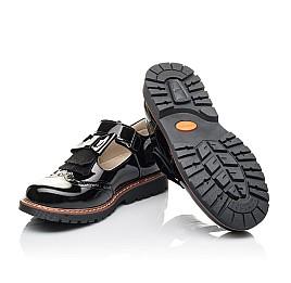 Детские туфли Woopy Fashion черные для девочек натуральная лаковая кожа размер 34-36 (4302) Фото 2