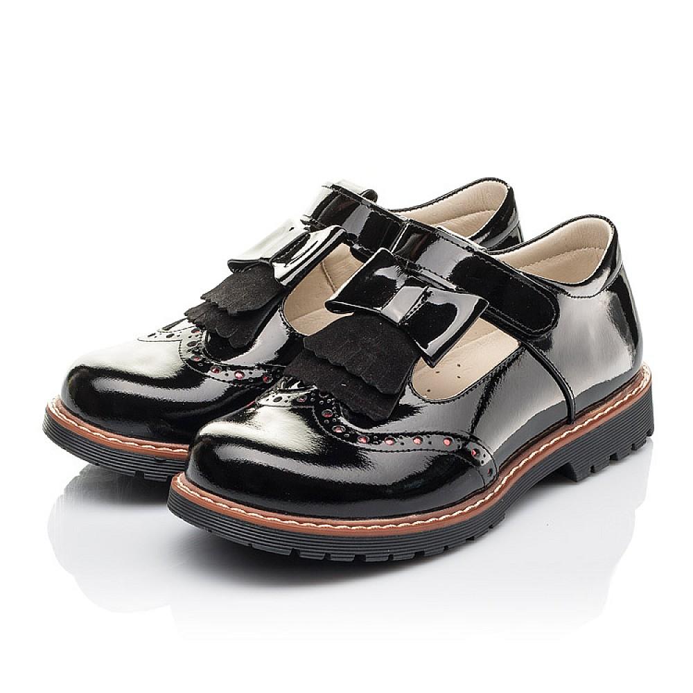 Детские туфли Woopy Fashion черные для девочек натуральная лаковая кожа размер 31-36 (4302) Фото 3