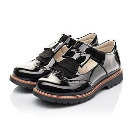 Детские туфли Woopy Fashion черные для девочек натуральная лаковая кожа размер 34-36 (4302) Фото 3