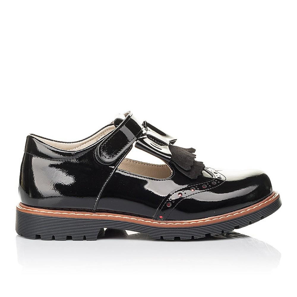 Детские туфли Woopy Fashion черные для девочек натуральная лаковая кожа размер 31-36 (4302) Фото 4