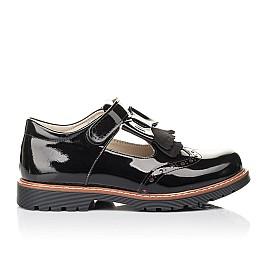 Детские туфли Woopy Fashion черные для девочек натуральная лаковая кожа размер 34-36 (4302) Фото 4