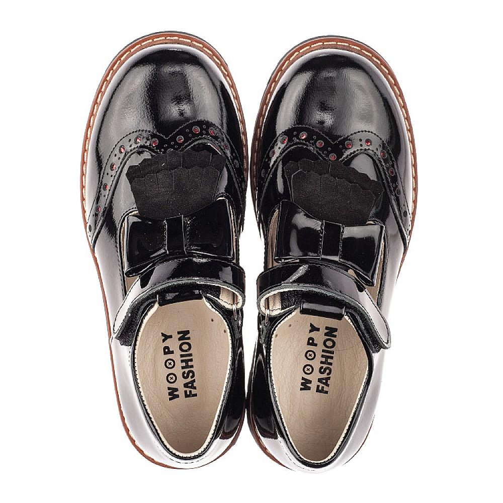 Детские туфли Woopy Fashion черные для девочек натуральная лаковая кожа размер 31-36 (4302) Фото 5