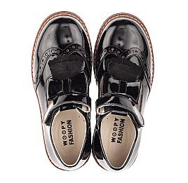 Детские туфли Woopy Fashion черные для девочек натуральная лаковая кожа размер 34-36 (4302) Фото 5