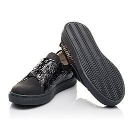 Детские кеди Woopy Fashion черные для девочек натуральный нубук размер 29-33 (4303) Фото 2