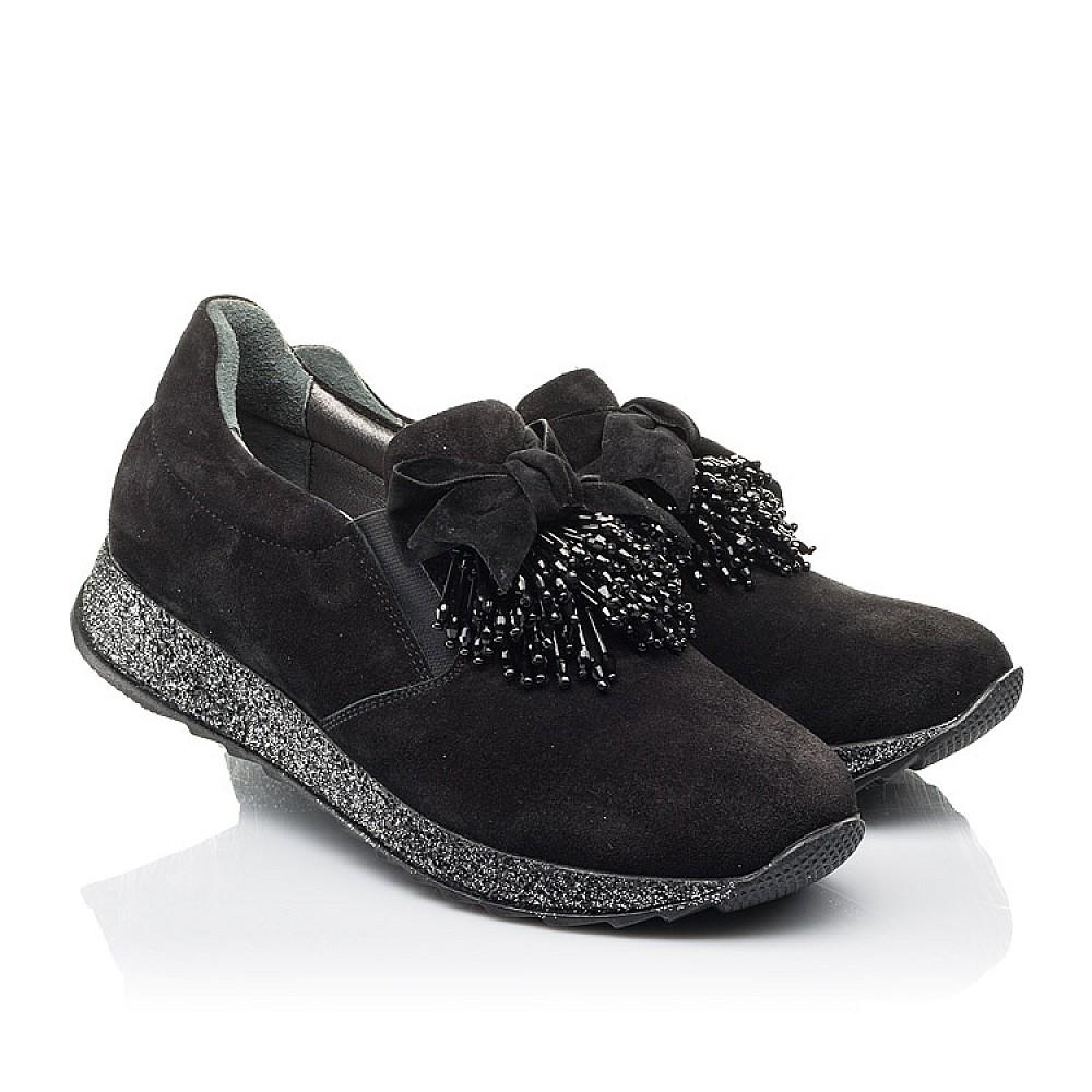Детские туфли Woopy Fashion черные для девочек натуральная замша размер 32-40 (4304) Фото 1