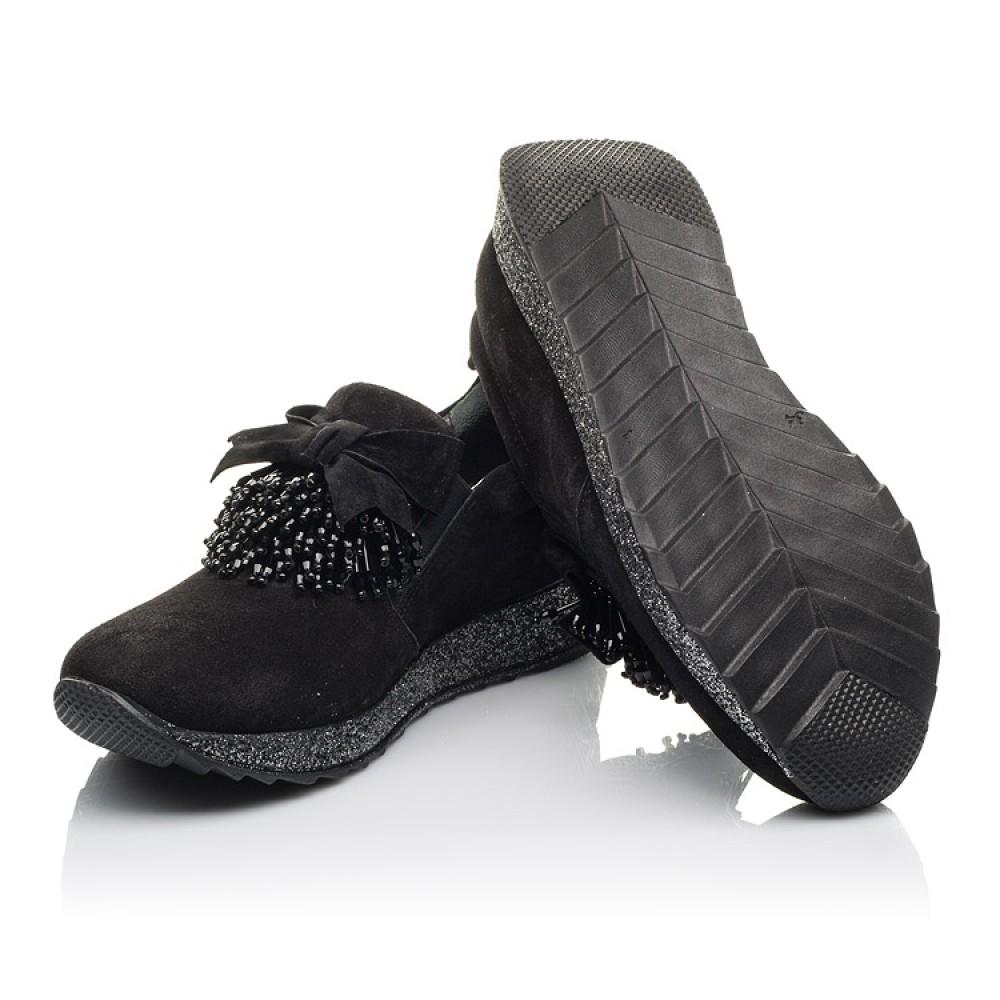 Детские туфли Woopy Fashion черные для девочек натуральная замша размер 32-40 (4304) Фото 2