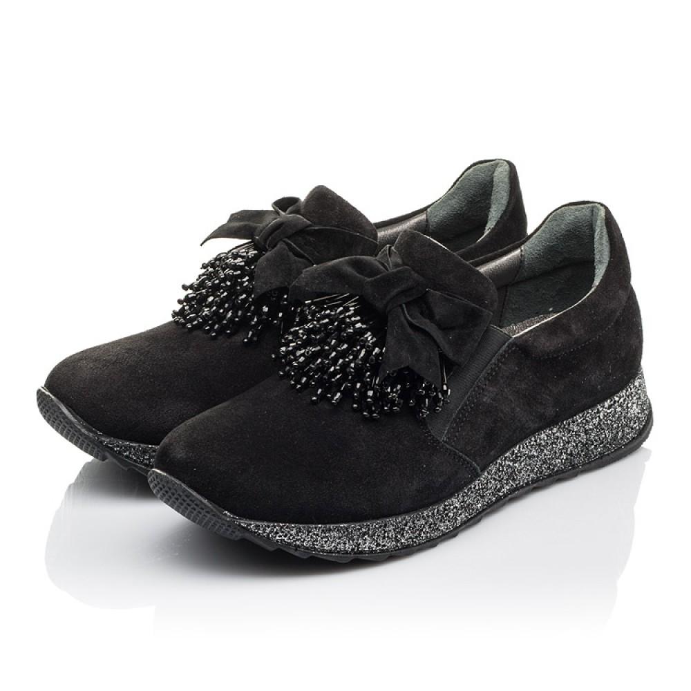 Детские туфли Woopy Fashion черные для девочек натуральная замша размер 32-40 (4304) Фото 3