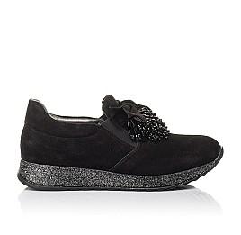 Детские туфли Woopy Fashion черные для девочек натуральная замша размер 32-40 (4304) Фото 4
