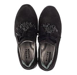 Детские туфли Woopy Fashion черные для девочек натуральная замша размер 32-40 (4304) Фото 5