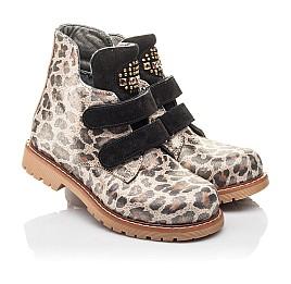 Детские демисезонные ботинки Woopy Fashion коричневые для девочек натуральный нубук размер 22-36 (4305) Фото 1