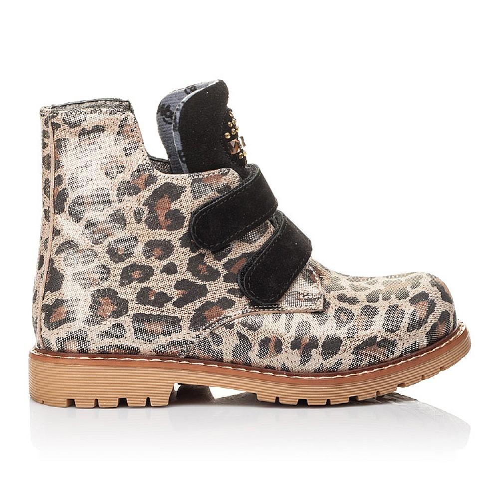 Детские демисезонные ботинки Woopy Fashion коричневые для девочек натуральный нубук размер 22-36 (4305) Фото 4