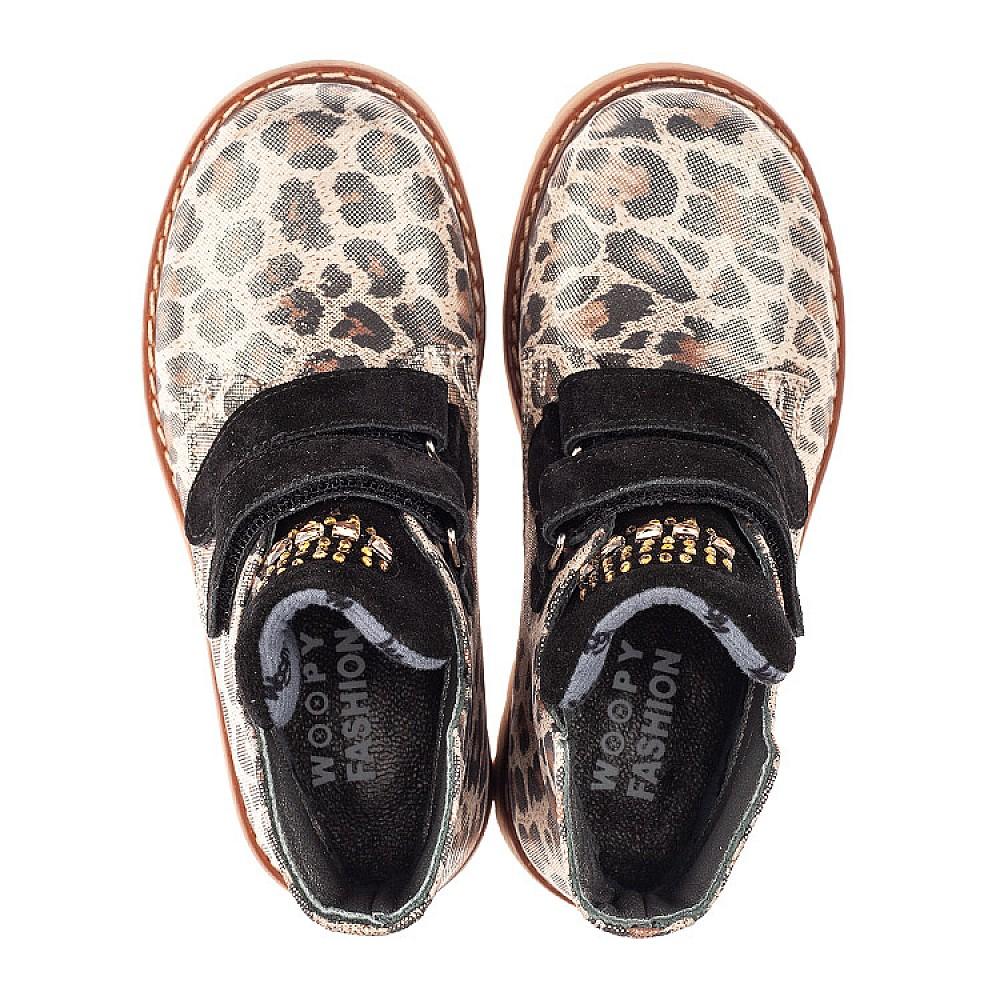 Детские демисезонные ботинки Woopy Fashion коричневые для девочек натуральный нубук размер 22-36 (4305) Фото 5