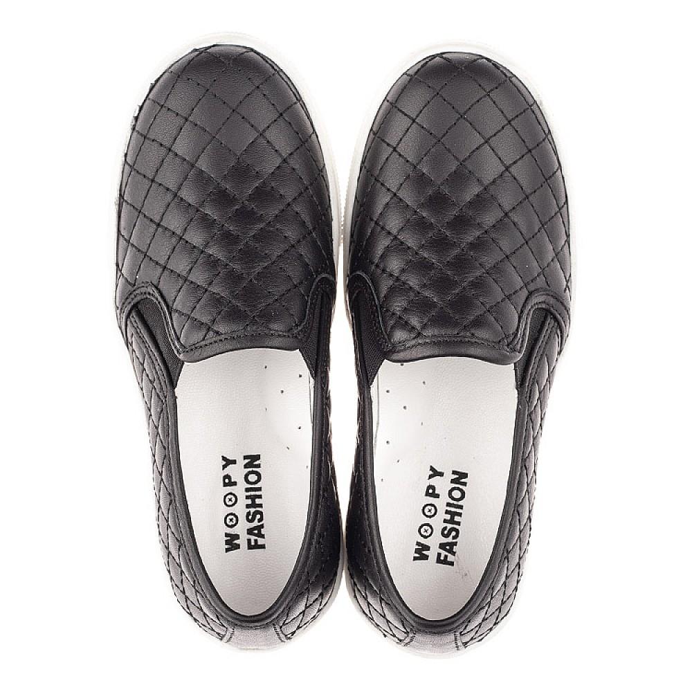 Детские слипоны Woopy Fashion черные для девочек натуральная кожа размер 29-38 (4306) Фото 5