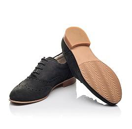 Детские туфли (шнурок резинка) Woopy Fashion черные для девочек натуральный нубук размер 32-37 (4307) Фото 2