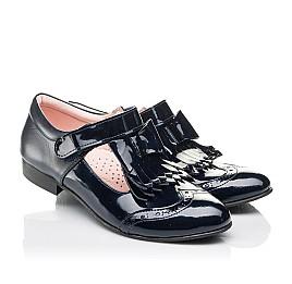 Детские туфли Woopy Fashion синие для девочек натуральная лаковая кожа размер 33-39 (4308) Фото 1