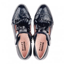 Детские туфли Woopy Fashion синие для девочек натуральная лаковая кожа размер 33-39 (4308) Фото 5