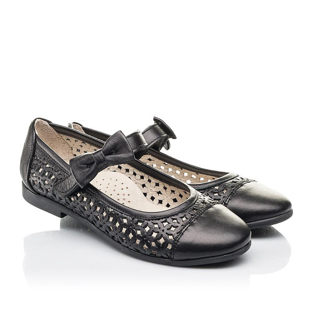 Детские туфли Woopy Fashion черные для девочек натуральная кожа размер 28-36 (4309) Фото 1