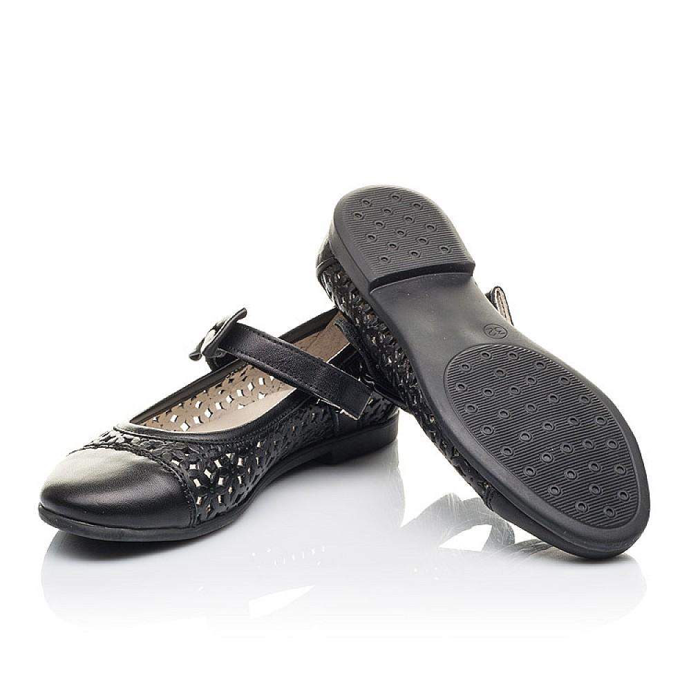 Детские туфли Woopy Fashion черные для девочек натуральная кожа размер 28-36 (4309) Фото 2