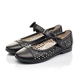 Детские туфли Woopy Fashion черные для девочек натуральная кожа размер 28-36 (4309) Фото 3