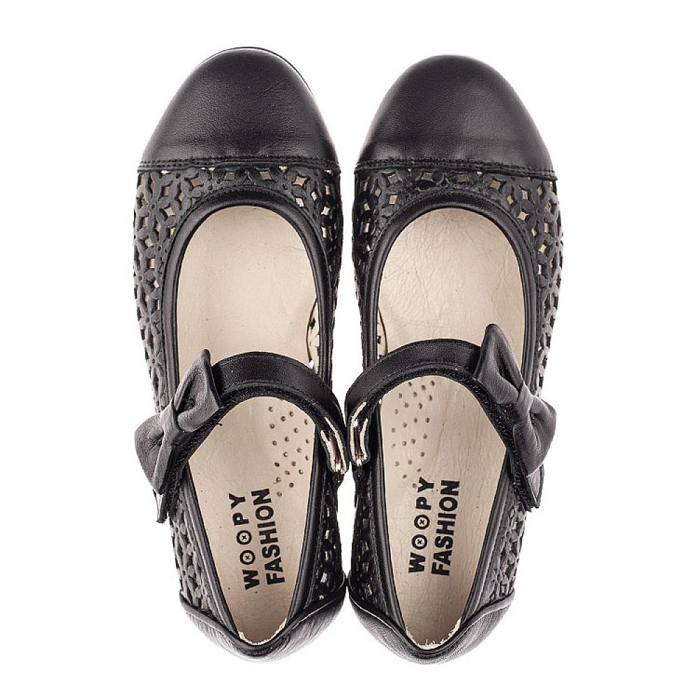 Детские туфли Woopy Fashion черные для девочек натуральная кожа размер 28-36 (4309) Фото 5