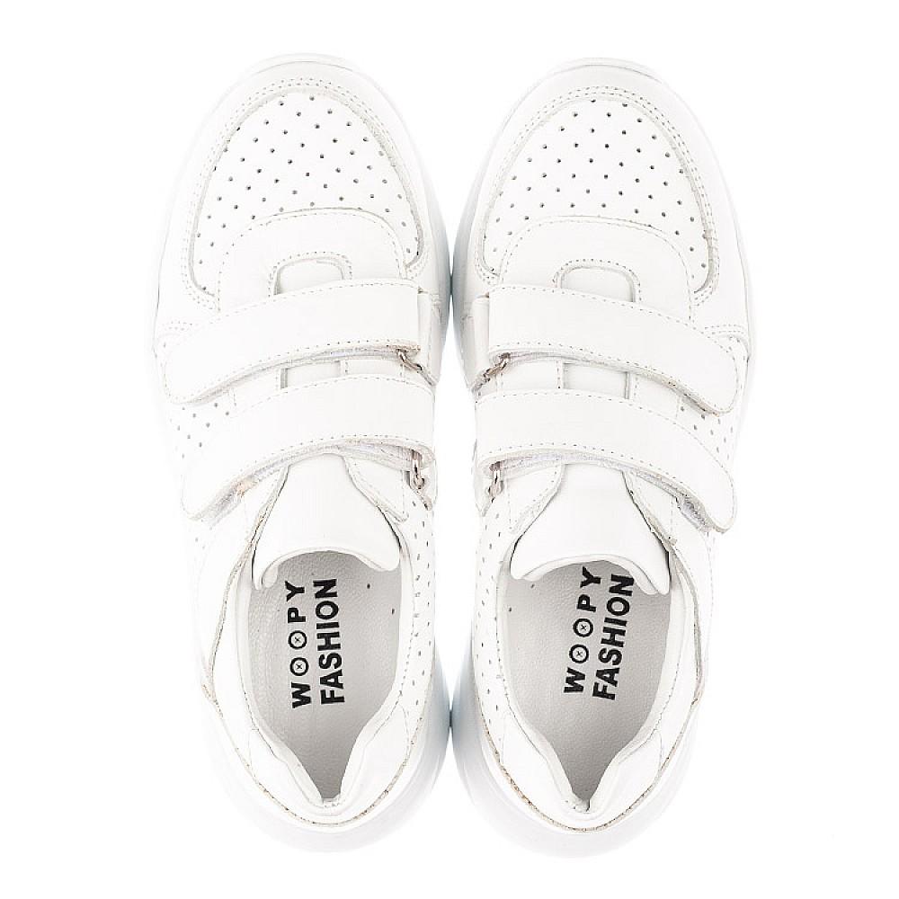 Детские кроссовки Woopy Fashion белые для девочек натуральная кожа размер 30-40 (4310) Фото 5