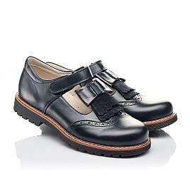 Детские туфли Woopy Fashion синие для девочек натуральная кожа размер 34-39 (4311) Фото 1