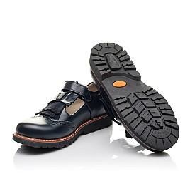 Детские туфли Woopy Fashion синие для девочек натуральная кожа размер 34-39 (4311) Фото 2
