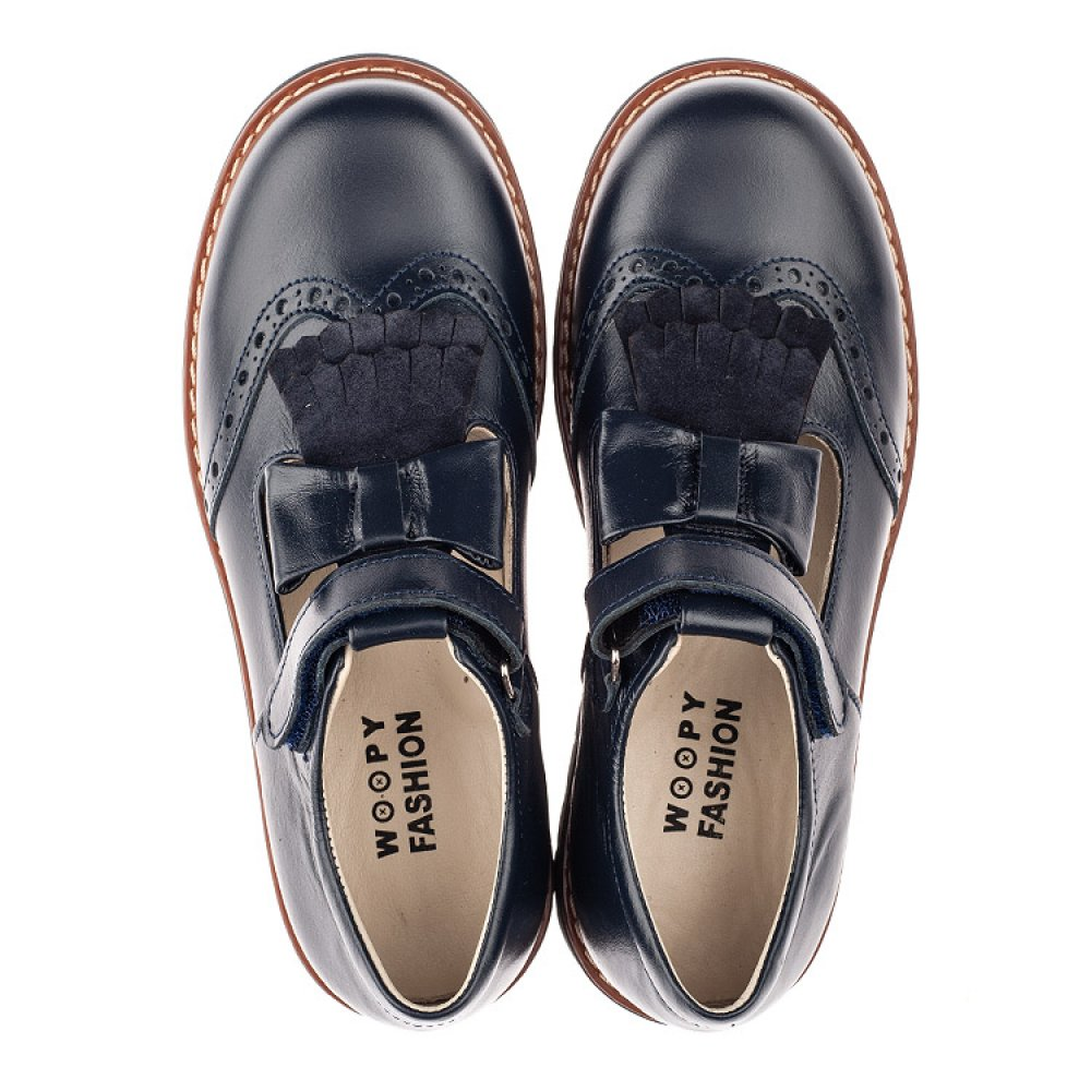Детские туфли Woopy Fashion синие для девочек натуральная кожа размер 34-39 (4311) Фото 5