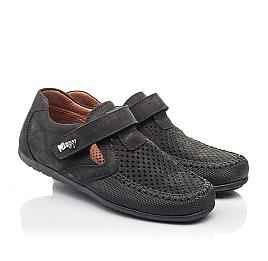 Детские туфли Woopy Fashion черные для мальчиков натуральный нубук размер 29-30 (4312) Фото 1