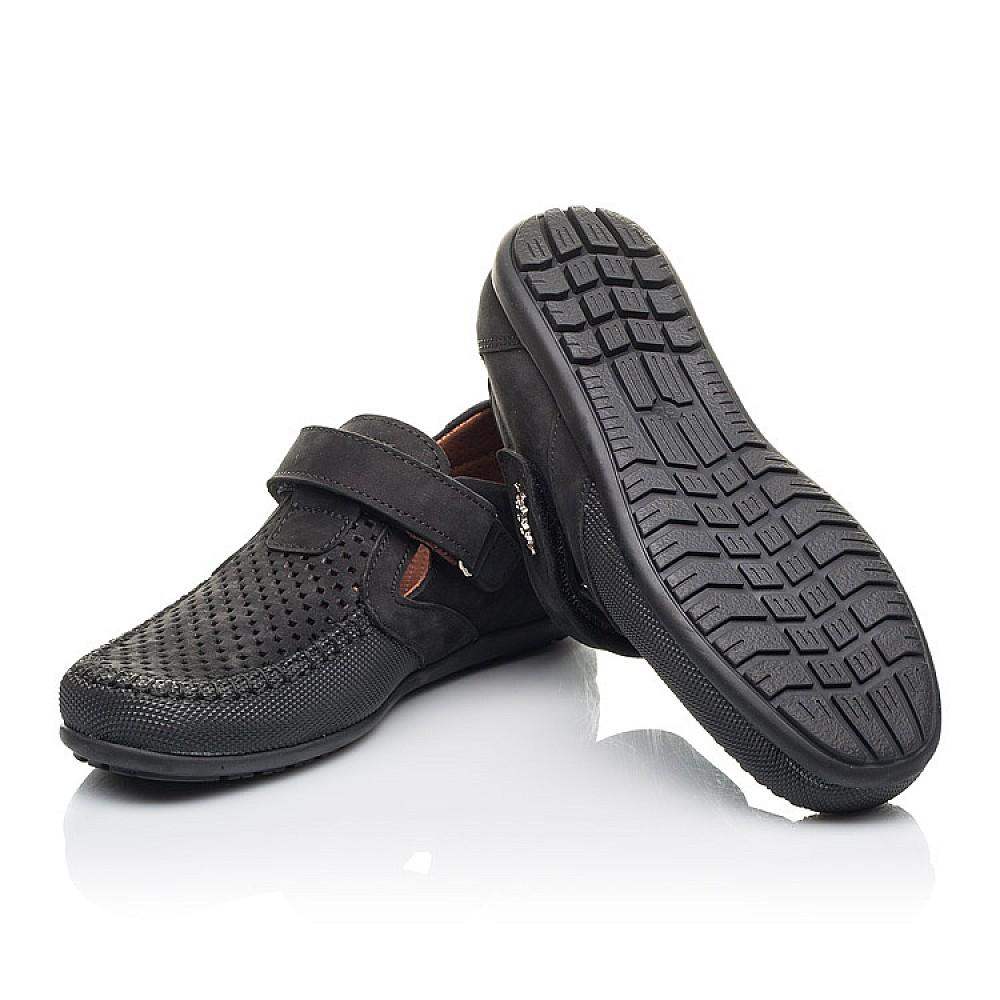 Детские туфли Woopy Fashion черные для мальчиков натуральный нубук размер 29-37 (4312) Фото 2