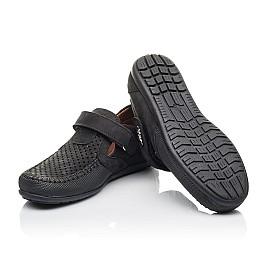Детские туфли Woopy Fashion черные для мальчиков натуральный нубук размер 29-30 (4312) Фото 2