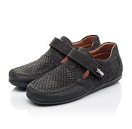 Детские туфли Woopy Fashion черные для мальчиков натуральный нубук размер 29-37 (4312) Фото 3