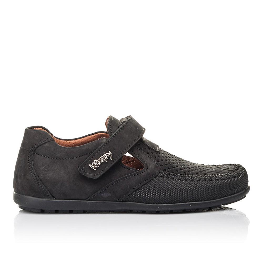 Детские туфли Woopy Fashion черные для мальчиков натуральный нубук размер 29-37 (4312) Фото 4