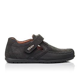 Детские туфли Woopy Fashion черные для мальчиков натуральный нубук размер 29-30 (4312) Фото 4