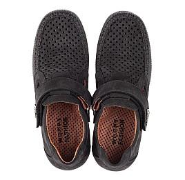 Детские туфли Woopy Fashion черные для мальчиков натуральный нубук размер 29-30 (4312) Фото 5