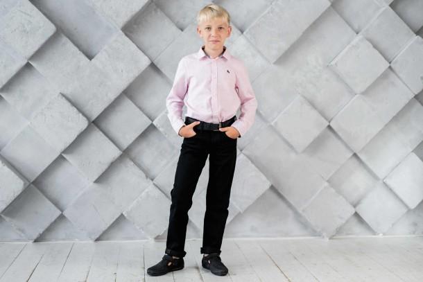 Мальчик обут в детские туфли Woopy Fashion черные (4312) Фото 1