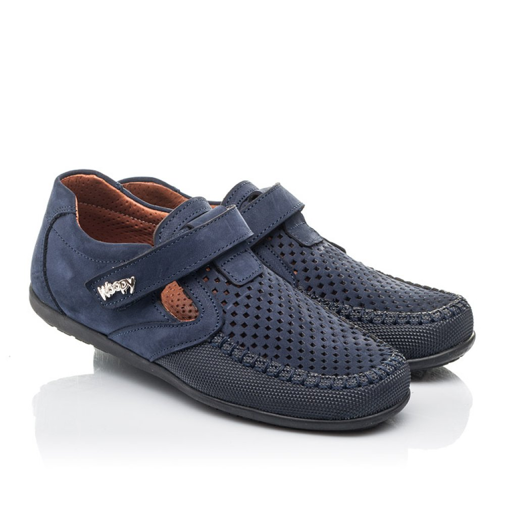 Детские туфли Woopy Fashion синие для мальчиков натуральный нубук размер 29-37 (4313) Фото 1