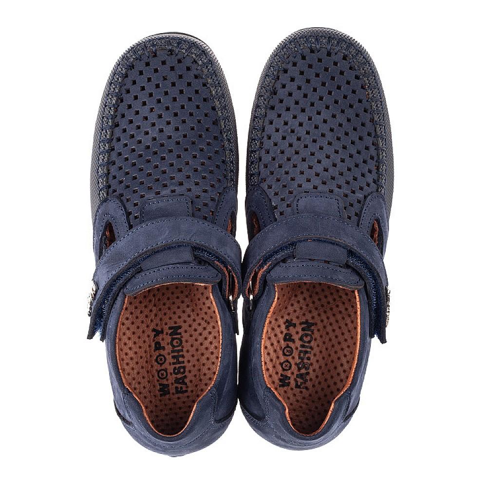 Детские туфли Woopy Fashion синие для мальчиков натуральный нубук размер 29-37 (4313) Фото 5